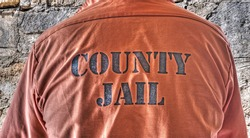 close up of a prisoner shirt in hdr tone