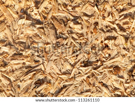 Close up of a recycle compressed wood surface