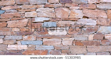 Close up of a red and grey colored brick wall