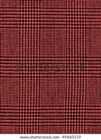 Close-up of a red checked plaid for background
