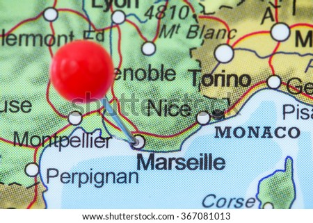 Free Photos Map With Pin Point Of Marseille In France Avopix Com