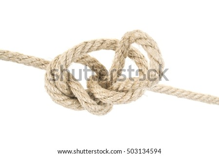 close up of a rope on white...