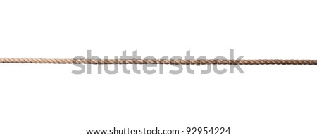 close up of a rope on white background with clipping path