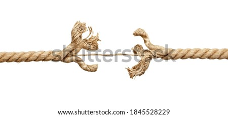 close up of a rope under pressure on white background Foto d'archivio ©