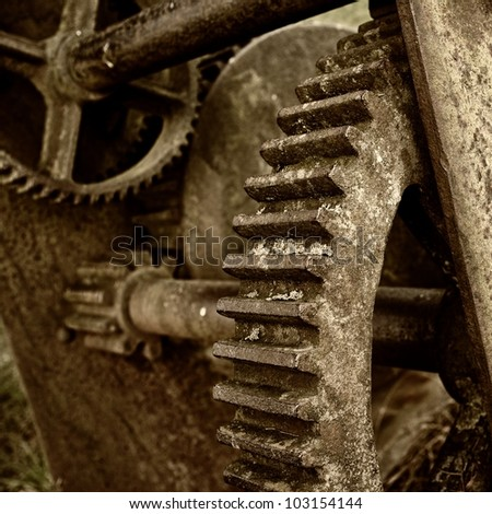 Close-up of a rusty mechanism