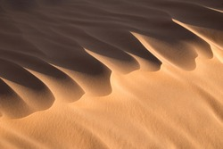 Close up of a sand dune, desert of Sahara, South Tunisia