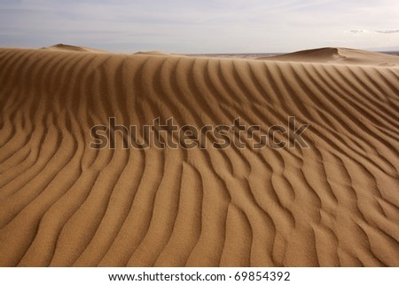 Close up of a sand dune (Imperial Dunes, California)
