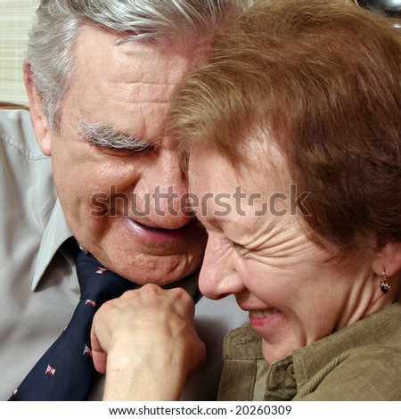 Close up of a senior happy couple.