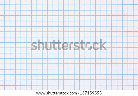 Close up of a sheet of blue and white graph paper to provide a background