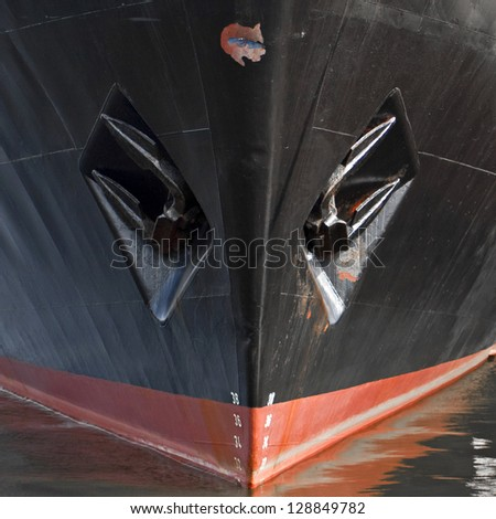 Close-up of a ship's hull