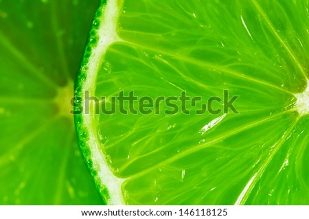 close-up of a slice of lime #146118125