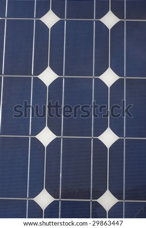 Close up of a solar panel, ideal for a background on the theme of alternative energy.