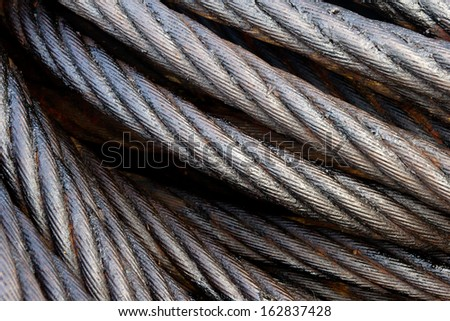 Close-up of a steel cable