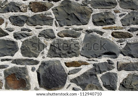 Close up of a stone wall of the stone store building in Kerikeri, Northland New Zealand.