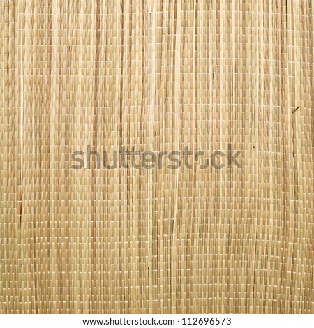 Close up of a straw mat as a background image