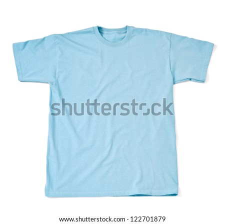 close up of  a t shirt on white background with clipping path