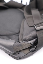 Close-up of a tattered bag in Japan