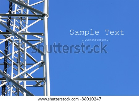 Close up of a telecommunications tower with space for your text.
