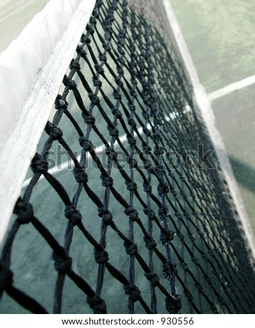 Close up of a tennis net