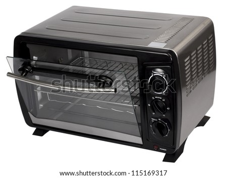 Close-up of a toaster oven
