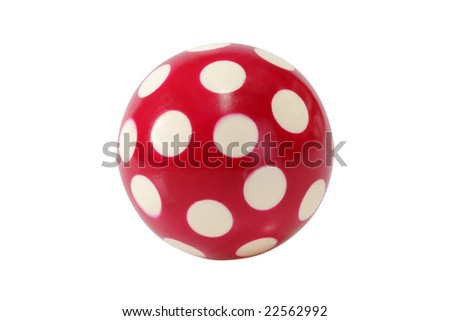 Close up of a toy ball - isolated on white background