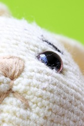 close-up of a toy rabbit  detail