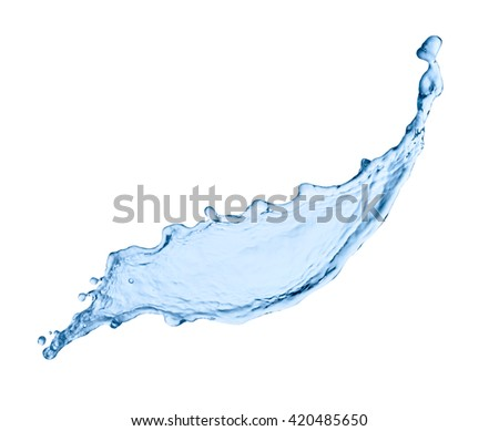 close up of  a water splash on white background - Shutterstock ID 420485650