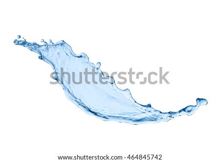 close up of  a water splash on white background - Shutterstock ID 464845742