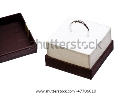 close up of a wedding ring inside a box ready for a gift