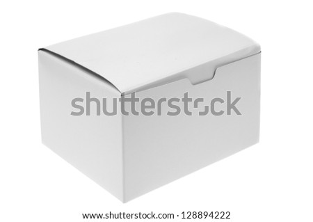 close up of a white box on white background