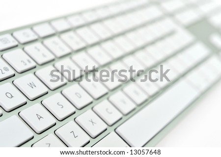 close-up of a white keyboard