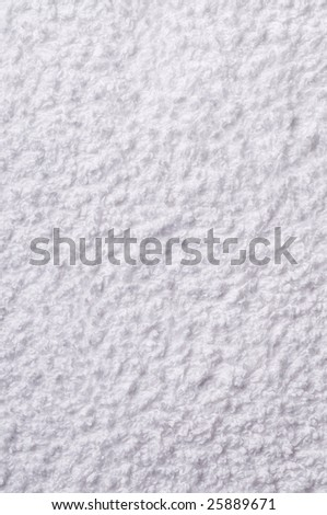Close up of a white towel