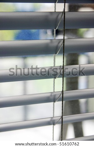 Close-up of a window blinds
