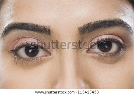 Close-up of a woman's eyes - Shutterstock ID 113415433
