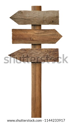 close up of a wooden sign on white background