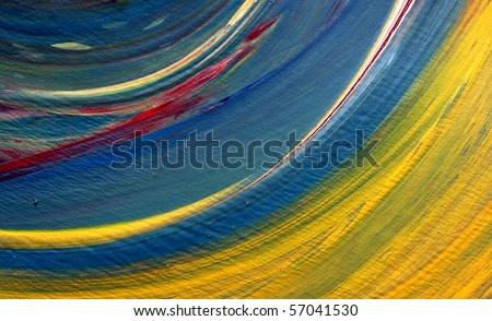 Close up of abstract colors