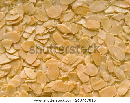 close up of almond florentine biscuit food background #260769815