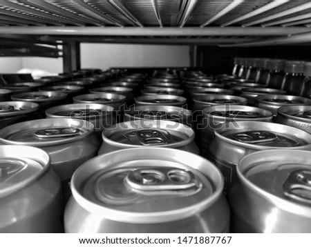 Close up of aluminium cans, top of aluminium cans, aluminium cans pattern. #1471887767