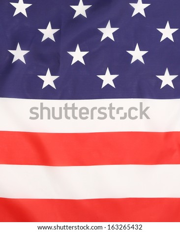 Close up of american flag. Whole background.
