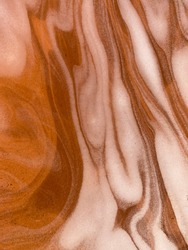 Close up of an abstract  background of water foam fluidity and shadows of the foam in a terra-cotta plant saucer.