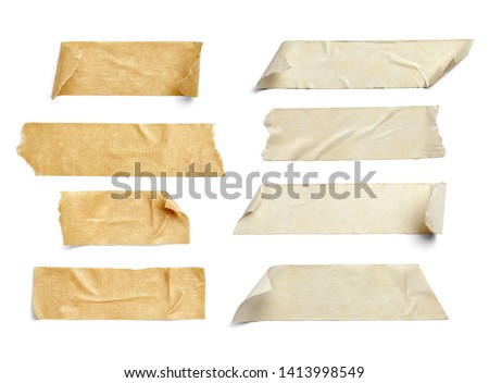 close up of an adhesive tape on white background #1413998549