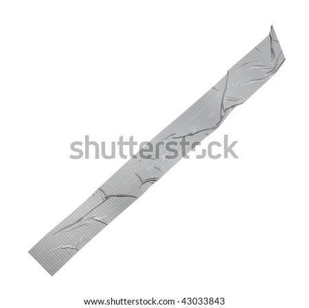 close up of an adhesive tape on white background - stock photo