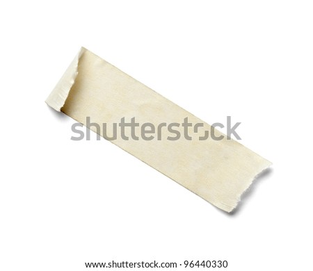 close up of  an adhesive tape on  white background with clipping path
