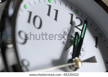 Clock Face Showing 12 O'clock Face Showing 12 O'clock