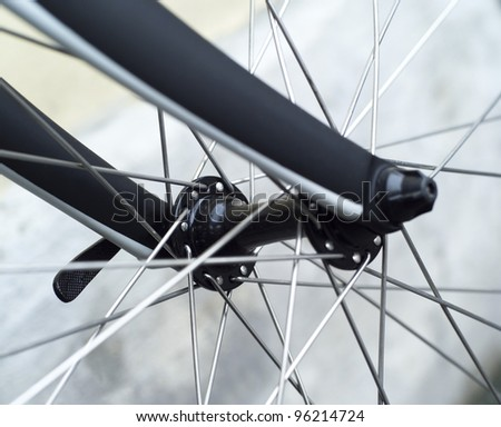 Close up of an Bicycle Wheel