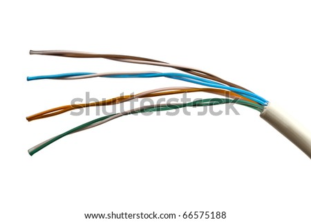 Close up of an colorful electrical wire