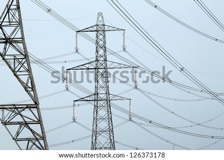 close up of an electricity pylons