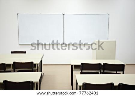 close up of an empty school classroom