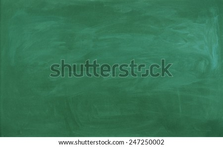close up of an empty school green blackboard