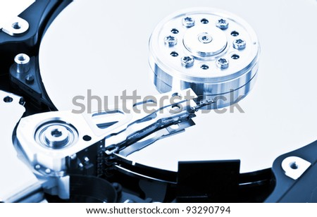 Close-up of an hard disk drive #93290794